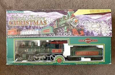 Bachmann Trains G Scale Night Before Christmas Ready To Run Electric Train Set !