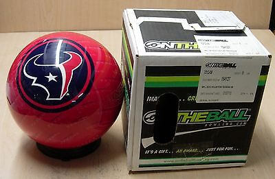 8 6oz Tw 1.4 Bowling Ball Otb Viz-a-ball Retired 2010 Nfl Houston Texans