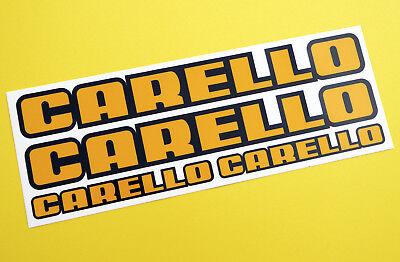 Classic Car Rally/Race CARELLO sticker set 4 GLOSS LAMINATED ESCORT CITROEN MINI