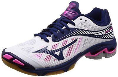 Mizuno Volleyball Schuhe Wave Blitzschlag Z4 Weiß Marineblau Rosa