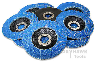 10-pc. 4-12 Inches Ziroconia Sanding Paper Flap Disc 60 Grit 78 Arbor New