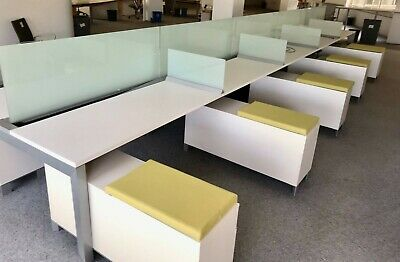 Modern Office For A Great Price - Allsteel Cubicles - Benching Stations