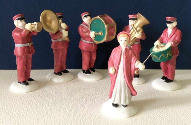 """Vintage Dept. 56 Heritage Village Collection """"Salvation Army Band"""" Set #5985-4"""