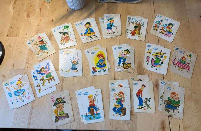 VINTAGE 1959 OLD MAID Card Game Ed-U-Cards 35 Cards