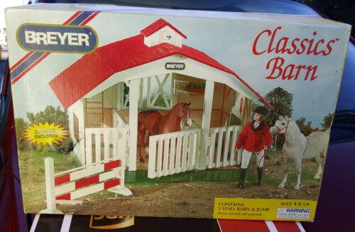 Breyer Classics Barn #650 - Contains 3 Stall Barn & Jump - NEW NIB