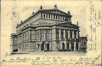 Frankfurt am Main Hessen AK 1898 Opernhaus Oper Theater Schauspielhaus Gebäude