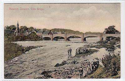 CREE BRIDGE, NEWTON STEWART: Wigtownshire postcard (C13449)