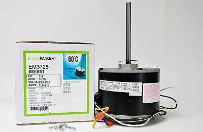 Air Conditioner Condenser Fan Motor 1/4 HP 230 Volts 1075 RP