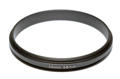 (Coupling Ring Male Thread 58-58mm Double Lens Reverse Macro Adapter, US seller!)