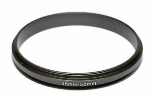 Coupling Ring Male Thread 58-58mm Double Lens Reverse Macro Adapter, US seller!