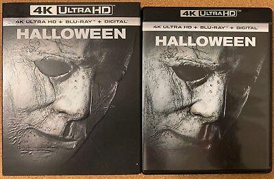 HALLOWEEN 2018 4K ULTRA HD BLU RAY 2 DISC SET + SLIPCOVER SLEEVE FREE SHIPPING (Halloween 4 Blu Ray)