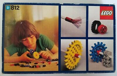 Lego 812 Vintage Gear Supplementary Set - 1970's - Complete w/Box & Instructions