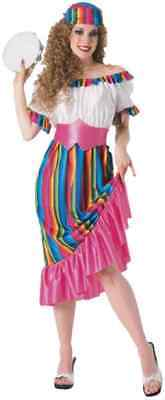 South of the Border Mexican Fiesta Senorita Fancy Dress Halloween Adult Costume - Halloween Costume Border