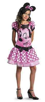 Clubhouse Pink Minnie Mouse Disney Fancy Dress Up Halloween Tween Child Costume