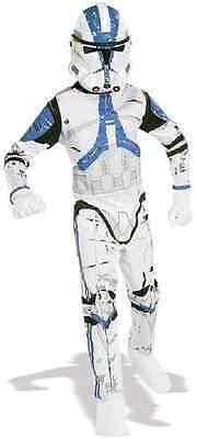 Clone Trooper Star Wars Movie Soldier Fancy Dress Up Halloween Child Costume (Movie Star Dress Up)