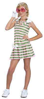 Sharpay Golf Dress High School Musical Pink Green Stripe Halloween Child Costume