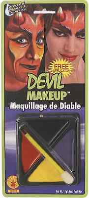 Devil Makeup Kit Fast Face Fancy Dress Up Carnival Halloween Costume Accessory