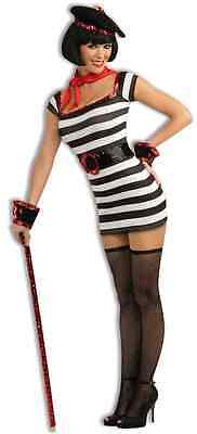 La Parisienne Girl French Striped Fancy Dress Up Halloween Sexy Adult Costume - French Girl Costumes