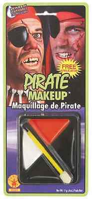Pirate Makeup Kit Fast Face Fancy Dress Up Carnival Halloween Costume Accessory
