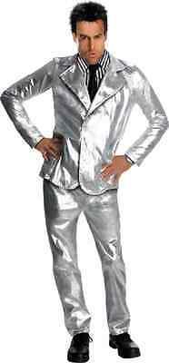 Derek Zoolander Ben Stiller Silver Suit Fancy Dress Up Halloween Adult Costume