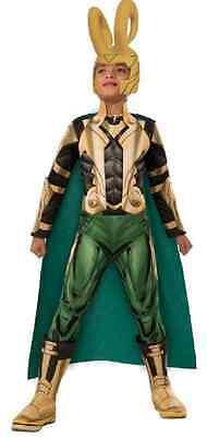 Loki Marvel Avengers Superhero Thor Villain Fancy Dress Halloween Child Costume