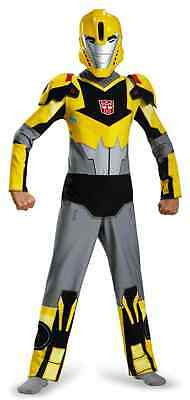 Transformer Dress Up (Bumblebee Animated Classic Transformers Fancy Dress Up Halloween Child Costume)