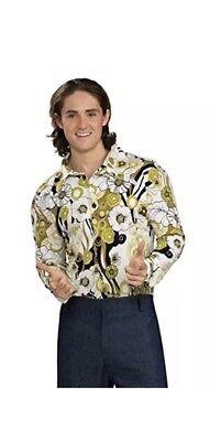Feelin Groovy Retro 70s Groovy Male Shirt Halloween Shirt (Feelin Groovy Shirt)