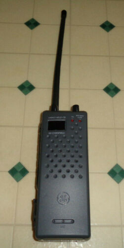 GE General Electric Model 3-5980A Portable 40 Channel CB Radio Transceiver Works