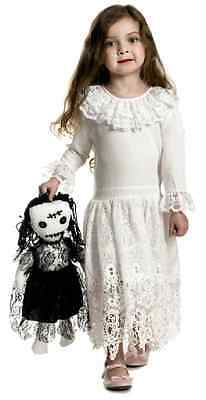 Little Miss Voodoo Doll Ghost Zombie Fancy Dress Up Halloween Child Costume