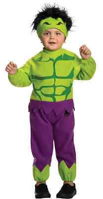 Hulk Avengers Superhero Fancy Dress Up Halloween Deluxe Toddler Child Costume
