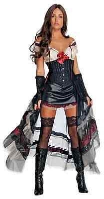 Lilah Jonah Hex Victorian Steampunk Megan Fox Dress Halloween Sexy Adult Costume