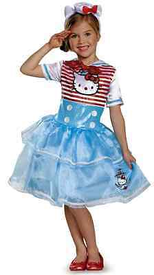 Hello Kitty Sailor Deluxe Tutu Sanrio Cat Fancy Dress Up Halloween Child Costume