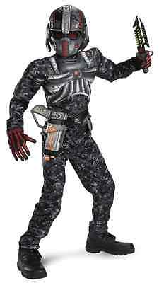 Recon Commando Black Ops Camo Military Fancy Dress Up Halloween Child (Camo Commando Kostüme)