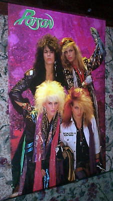 Poison Bret Michaels Vintage 80S Group Poster