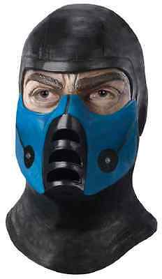 Kombat Fancy Dress Halloween Adult Costume Accessory (Sub-zero Maske Halloween)
