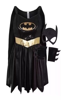 M 12-14 Batgirl Bat woman Outfit Fancy Dress Ladies Superhero Costume Fast Post](Ladies Superhero)