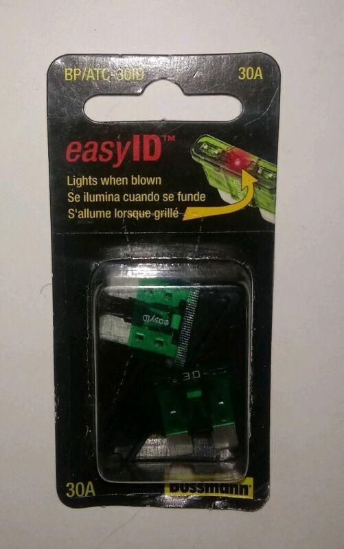 EATON BUSSMANN BP/ATM-30ID 30A Fast Acting Blade Plastic Fuse 32VDC 2PK