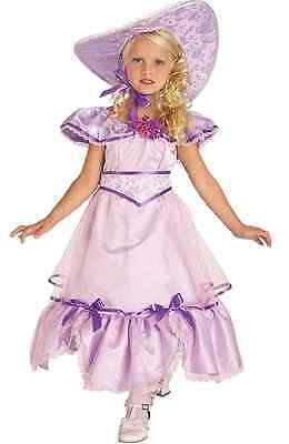 Southern Belle Gown Purple Civil War Fancy Dress Up Halloween Child Costume (Child Southern Belle Halloween Costumes)