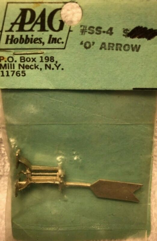 O Scale (On3, On30 & On2) #SS-4 Arrow Switchstand White Metal Casting by APAG
