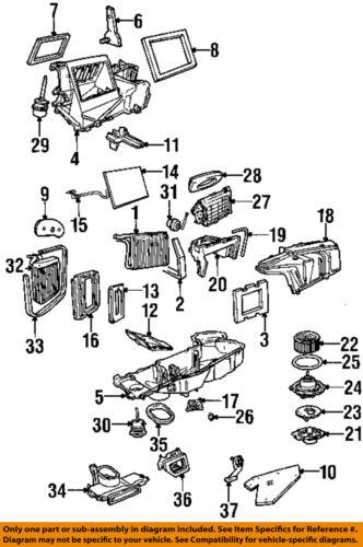 FORD OEM 97-03 F-150 5.4L-V8 Evaporator Heater-Actuator 2L3Z19E616BA