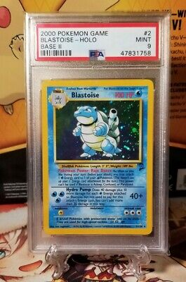 2000 Pokemon Game Blastoise Base Set 2 PSA 9 Mint #2