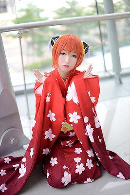 GINTAMA Kagura Sakura Furisode Kimono Yukata Kostüm Cosplay Costume Anime - Kagura Cosplay Kostüm