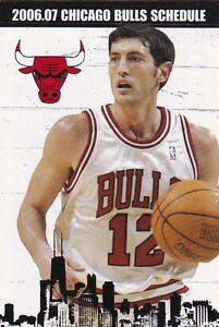 2006-07 CHICAGO BULLS BASKETBALL POCKET SCHEDULE - KIRK HINRICH