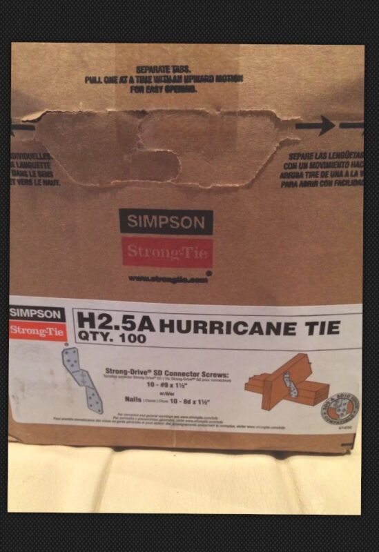 (Pack of 50 )Simpson Strong Tie H2.5A Hurricane Tie Connector