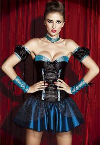 Showgirl Burlesque Moulin Rouge Corset Vegas Halloween Costume (Ladies Med)