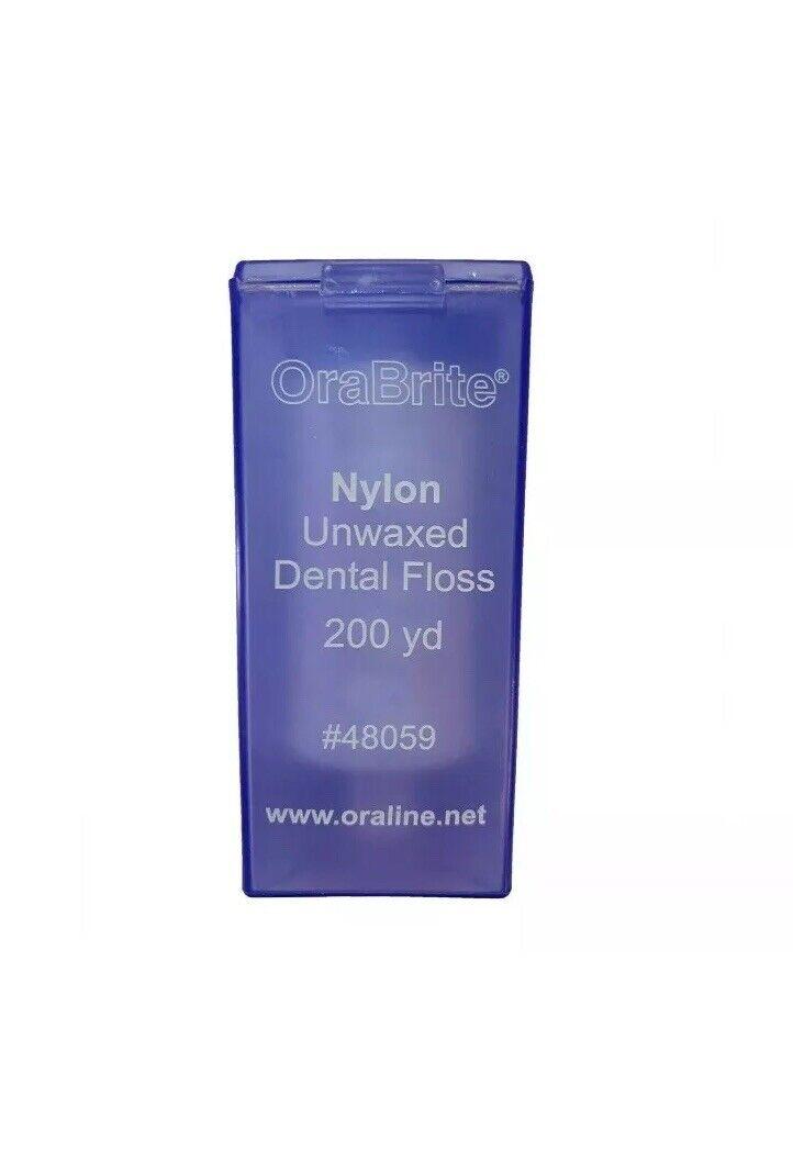 OraBrite Dental Nylon Unwaxed Dental Floss 200 Yard #48059