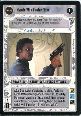 Star Wars CCG Enhanced Cloud City Lando With Blaster Pistol