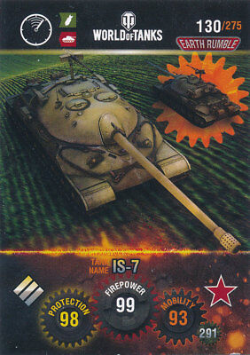 PANINI WORLD OF TANKS TRADING CARDS NR 130 NAME IS 7