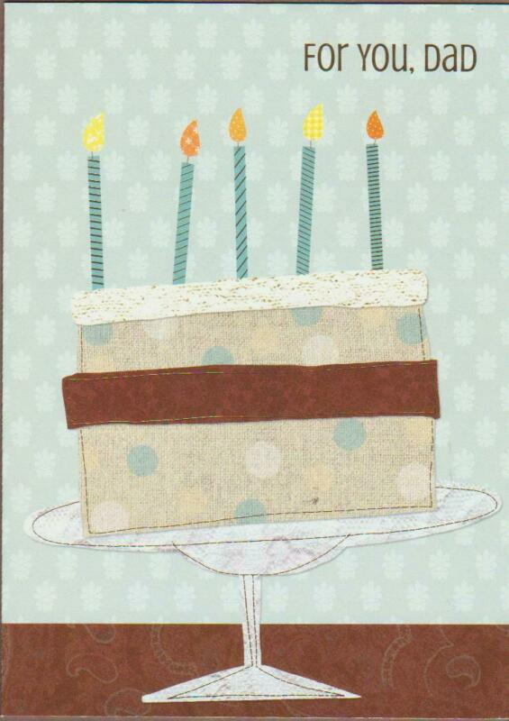 BIRTHDAY Greeting Card, HAPPY BIRTHDAY, FOR YOU DAD