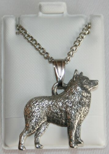 Schipperke Dog Harris Fine Pewter Pendant w Chain Necklace USA Made